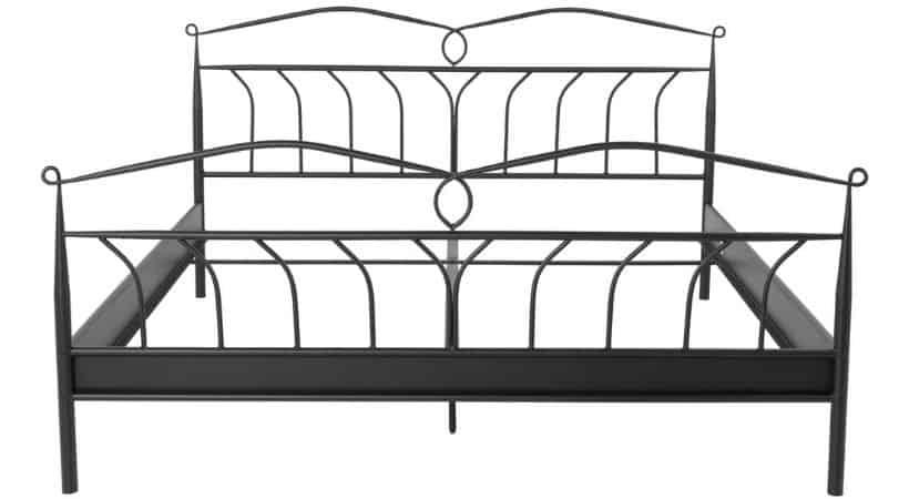 Billigt og romantisk sengestel i metal (retro)