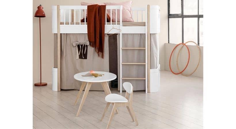 Oliver Furniture halvhøj seng - Wood Mini+