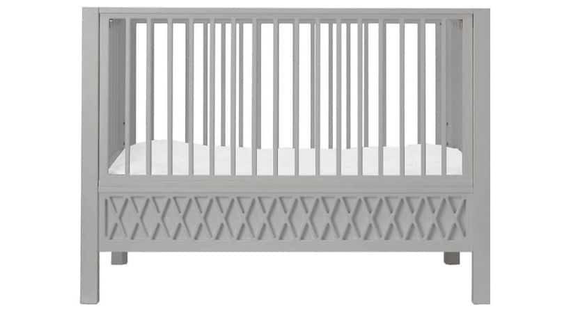 Tremmeseng med aftagelig side (grå)