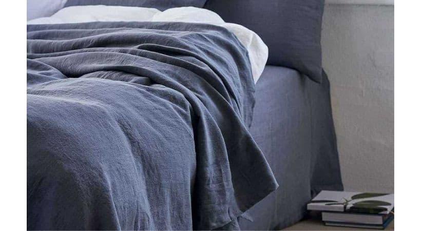 Elle sengetæppe - Hør
