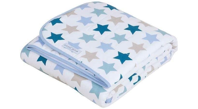 Sengetæppe med stjerner