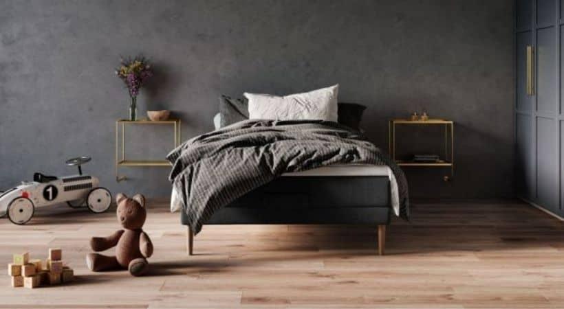 Atlas Wood - 120x200 seng med elevation