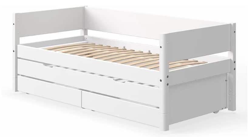 Enkeltseng med udtræk til ekstra seng - Flexa White