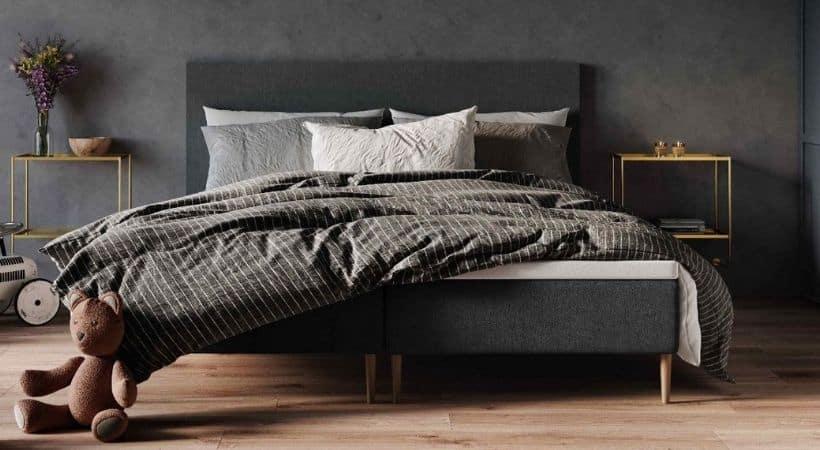Atlas Wood - Lækker grå 180x200 boksseng